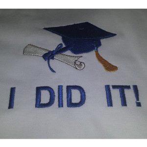 Diplomaosztó emlék hímzett póló