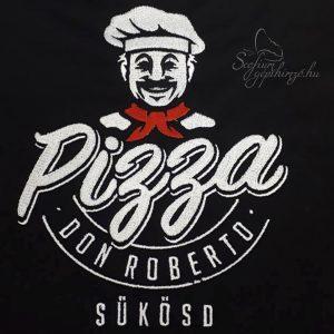 Pizzéria munkaruha gépi hímzés