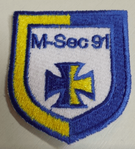Biztonsági szolgálat felvarrható embléma