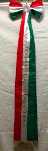 Gépi hímzéssel készített zászlószalag